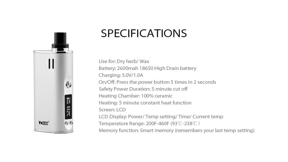 Yocan Explore Dry herb and wax 2 in 1 vaporizer kit
