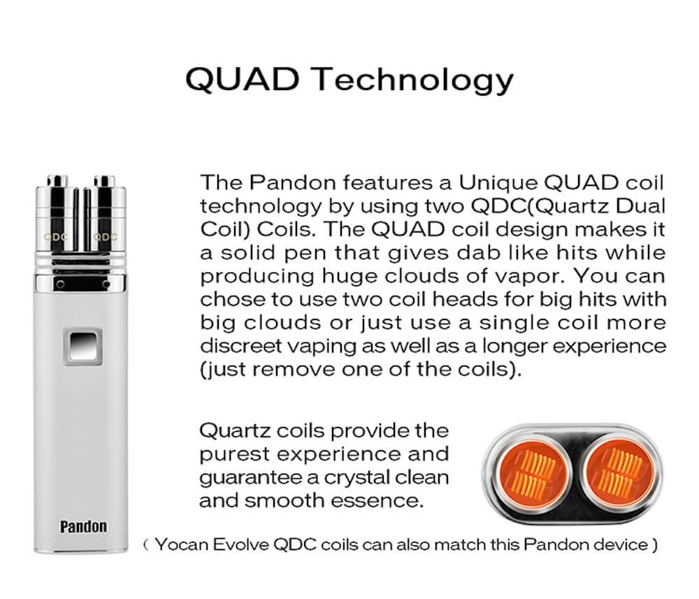 Yocan Pandon – Best Portable QUAD Wax Pen
