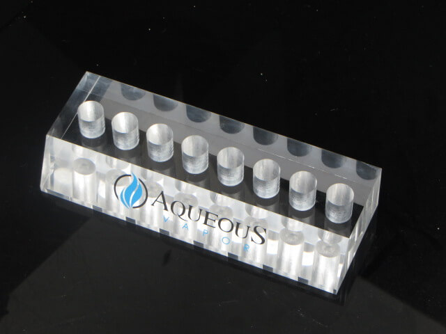 Acrylic dislpay shelf Aqueous Vapor OEM show