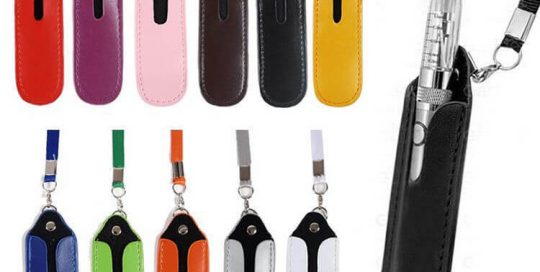 Colorful E-Cig eGo Vape Pen Holder Neck Strap Lanyard Leather Pouch