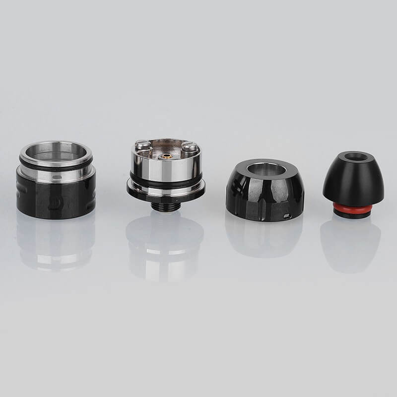 Da Vinci Mods Little Bang Style RDA Rebuildable Dripping Atomizer 24mm Diameter Black