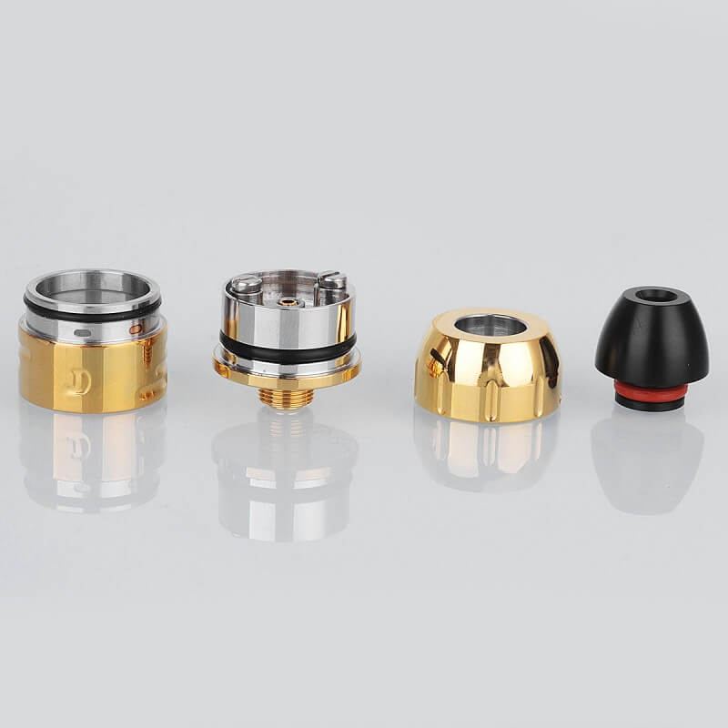 Da Vinci Mods Little Bang Style RDA Rebuildable Dripping Atomizer 24mm Diameter Gold