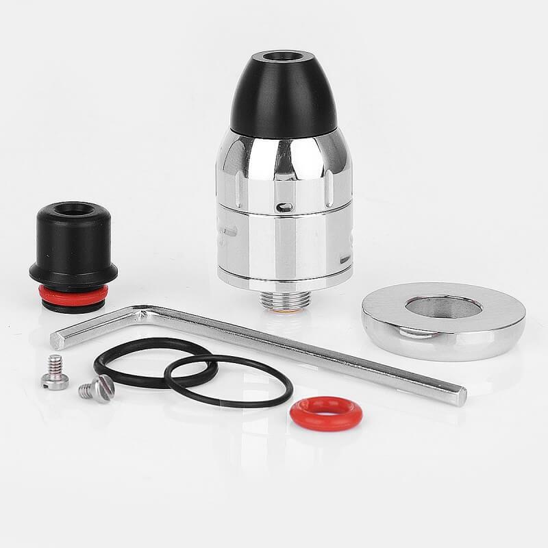 Da Vinci Mods Little Bang Style RDA Rebuildable Dripping Atomizer 24mm Diameter sliver