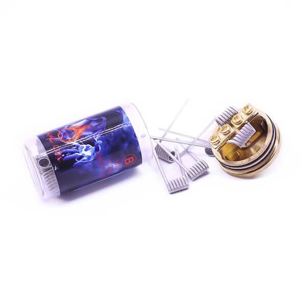 Demon Killer Flame coil B types: 316L – 0,35 Ohm – 28GA*3+38GA