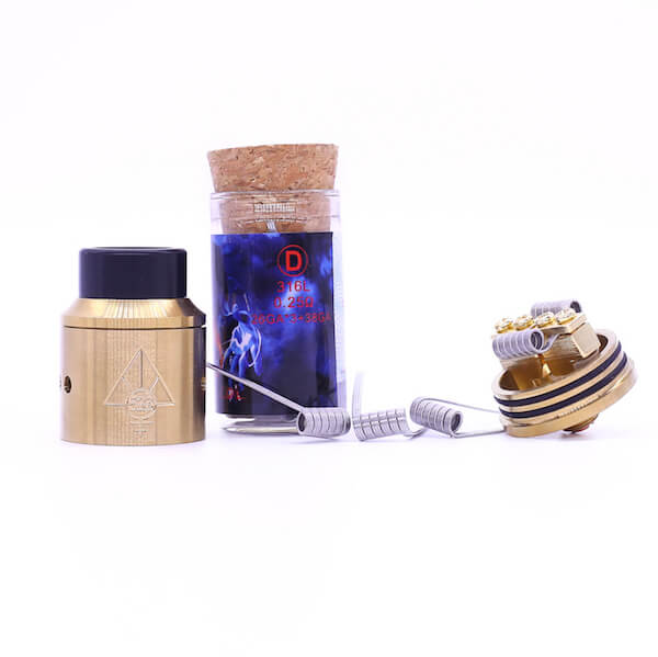 Demon Killer Flame coil D types:316L – 0,25 Ohm – 26GA*3+38GA