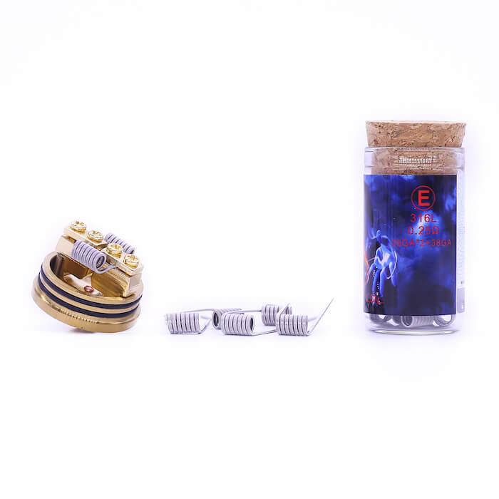 Demon Killer Flame coil E types:316L – 0,25 Ohm – 26GA*2+38GA