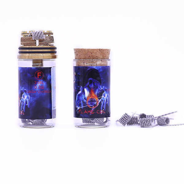 Demon Killer Flame coil F types:316L – 0,3 Ohm – (26GA*2)+38GA