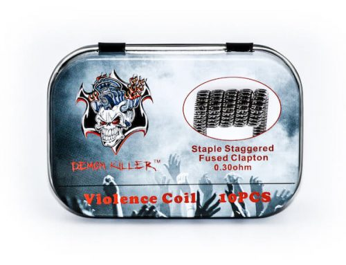 Demon Killer Prebuilt Violence Coil  Staple Staggered Fused Clapton Coils 10pcs Pack