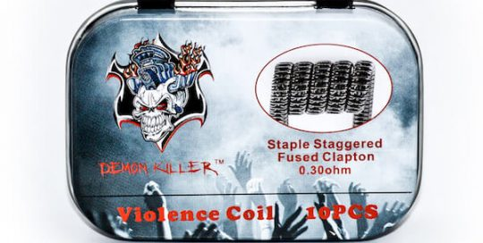 Demon killer Violence Coil Staple Staggered Fused Clapton coils