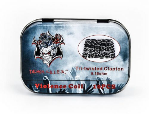 Demon Killer Prebuilt Violence Coil Tri-Twisted Clapton Coils 10pcs Pack