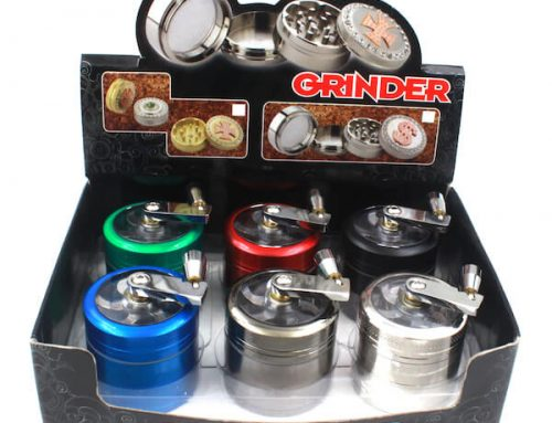 Zinc Alloy Grinders Handle Crank Crusher 4 Parts 40/50/63mm With Cabinet Door