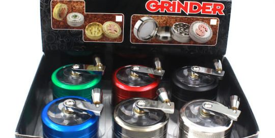 Handle Grinders 50mm Diameter Grinder Zinc Alloy Herb Spice Crusher 4 Layer