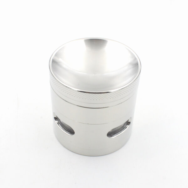 Herb Grinder 4 Layer Concave Bowl Cover 50mm Side window grinder Tobacco Grinders