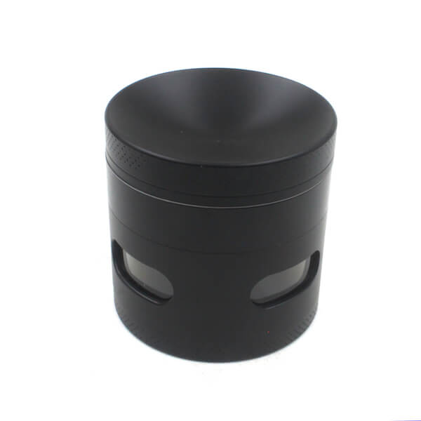 Herb Grinder 4 Layer Concave Bowl Cover 55mm Side window grinder Tobacco Grinders