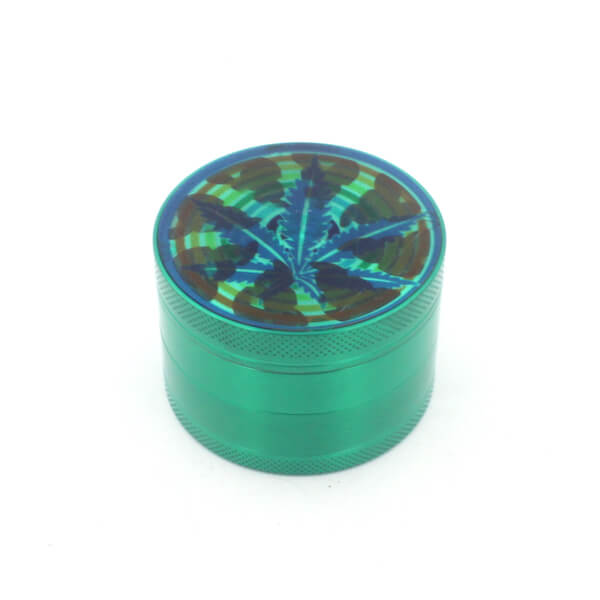 Herb Grinders 63mm Zinc Alloy Grinders With Clear Top Window Lighting Tooth 4 Parts