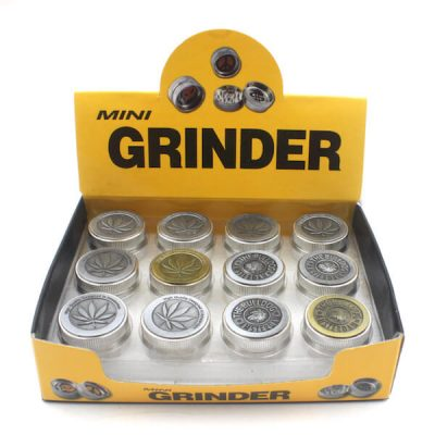 Leaf Designed Metal 2 part Grinder with diamond teeth for tobacco use only
