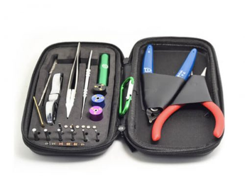 Mini Ecig Coil Master Jig Tweezer Pliers Allen Key DIY Tool Bag Kit Pocket