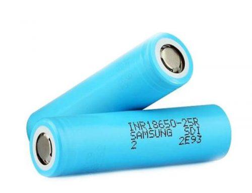 Genuine Samsung 25R 3.6V 2500mAh INR18650 Lithium Battery