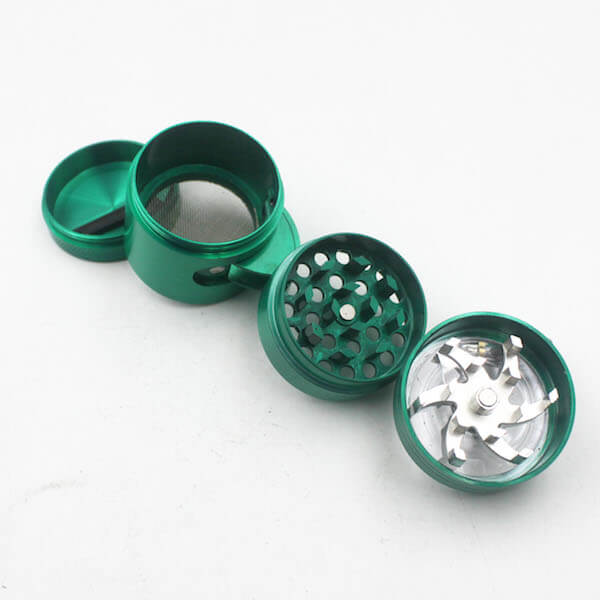 Side Window and Handle Grinders 40mm Diameter Grinder Zinc Alloy Herb Spice Crusher 4 Layer