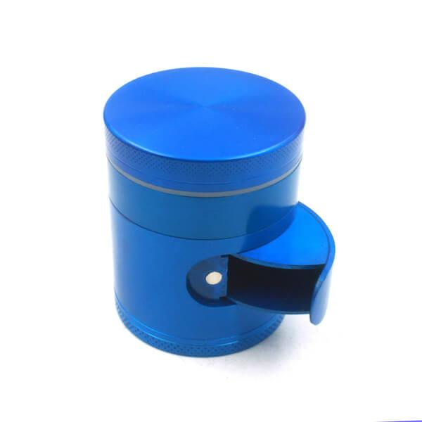Zinc Alloy Grinder 4 Layer 50mm flat Cabinet Door Tobacco Herb Spice Crusher
