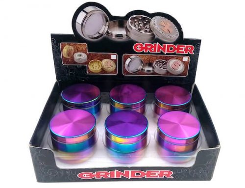 Zinc Alloy Grinder Rainbow Dazzle Color 4 Layer 40/50/55/63mm Tobacco Herb Spice Crusher