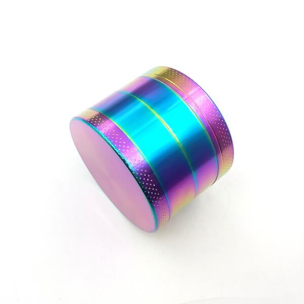 Zinc Alloy Grinder 4 Layer 55mm rainbow Dazzle Color Tobacco Herb Spice Crusher 01