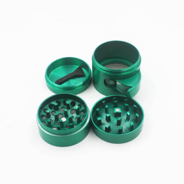 Zinc Alloy Grinder 4 Layer Concave Bowl Cover 40mm Cabinet Door Tobacco Herb Spice Crusher