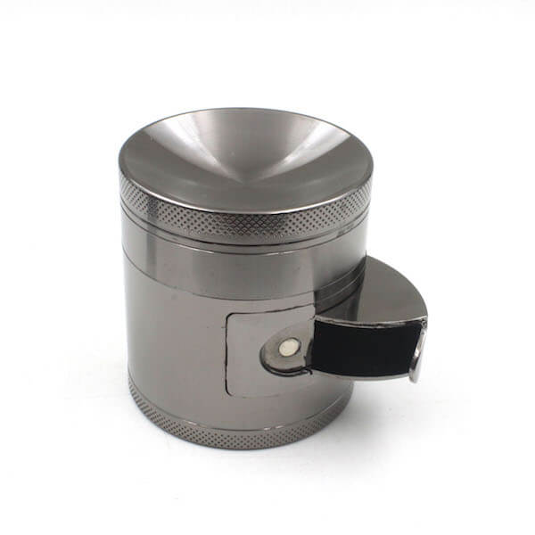 Zinc Alloy Grinder 4 Layer Concave Bowl Cover 63mm Cabinet Door Tobacco Herb Spice Crusher