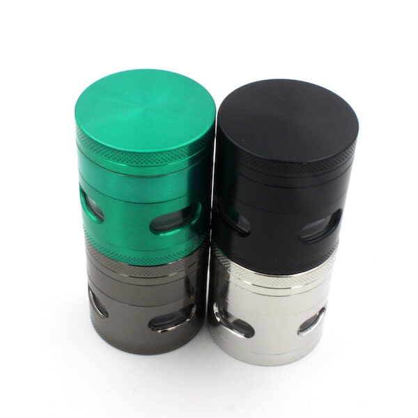Zinc Alloy Grinder 4 Layer flat top 40mm Side window grinder Tobacco Grinders