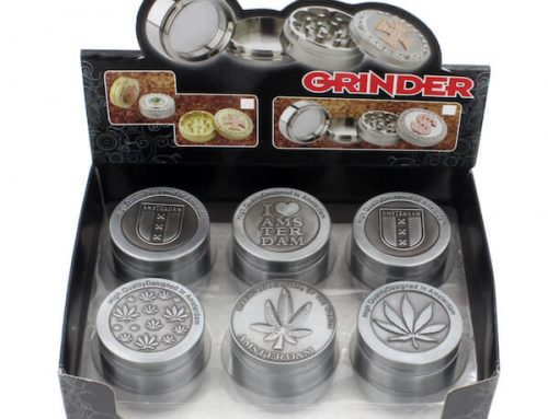 Zinc Alloy Herb Grinder Leaf Designed on Top 50 mm 3parts/4parts/5 parts available