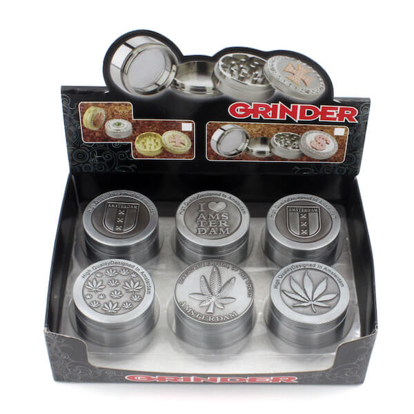 Zinc Alloy Herb Grinder 50 mm 5parts