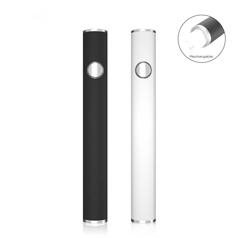 TMECIG TM-B8 Bottom android charging CBD batteries 350mah black and white