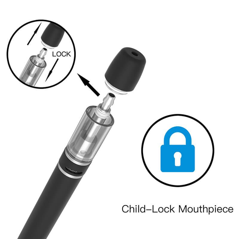 TMECIG TM-D28 Airflow Adjustable CBD-THC Bottom USB Charging Disposable vape pen with Child-Lock Mouthpiece